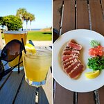 Craft beer, cocktail and Ahi Tuna