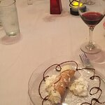 Cannoli for dessert.