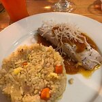 Chili fish fillet with pineapple rice