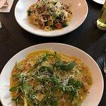 Top - Seafood Fettacini. Bottom - Seafood Ravioli. Both delicious!