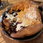 German pancake with blueberries
