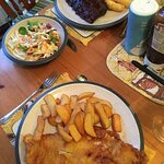 Super portions - and one lot of chips saved for tomorrow.