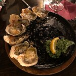 Chef Morton's oysters burgundy.
