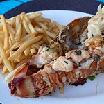 Fantastic lobster tail. Perfectly prepared!