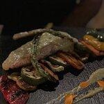 Salmon with Asparagus sauce