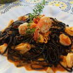 Linguine com frutos do mar