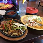 Wife had the chimichanga and I had a huge portion of steak fijitas. It was excellent. Very hot t