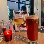 Strawberry Basil Iced Tea /White Wine