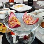 酸醃西西里紅蝦伴熱情果