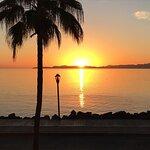 Sunrise from Los Olivos Restaurant Balcony!