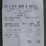 Bilde fra HI-Life Bar&Grill