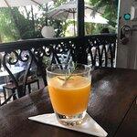 Drink delicioso, bem tropical.