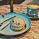 Decompress with some dessert and a hot drink