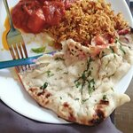 Mike's Chicken Patia. With Keema Naan and Keema rice - delicious