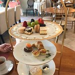 Half way through a wonderful afternoon tea........