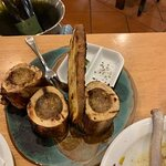 Roasted bone marrow with gremolata & rosemary salt