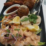 shared entree - this is delicious, fresh tasty and a good amount of food for 2