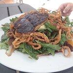 Tropical Salad with Blackened Mahi $23