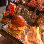 BAE Burger and chips