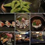 Todos os pratos do Omakase - dá o equivalente a uns 12-15 hossomakis, no máximo.