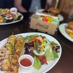 Chicken Skewers, Peri Peri Chicken Burger & Bull Burger - All absolutely delicious.