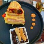 Burrito de camarón con costra de queso