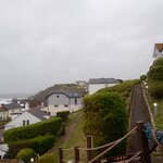 View out over the clifftop towards the sea