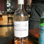 For our meal we chose as a beverage a bottle of Marquis de Pennautier Rose from France - very li