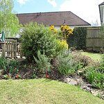 A small part of the back garden