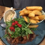 Steak with stilton sauce melted in your mouth & cooked to my choice