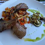 Lamb with vegetables - a very good dish.