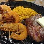 Rib Eye w Shrimp & Corn