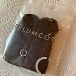 Plumcot - chocolate slice