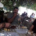 Afternoon coffee and desert at Foros - P. Perithia - Corfu (GEO-bicycling & more, outdoor activi