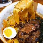 📍慢煮6小時牛肋肉龍蝦闊蛋湯麵($198)