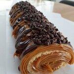 Brazo Gitano (a.k.a. Brazo de Reina, Swiss Roll, Spanish Cake Roll): sweet milk delicacy (arequi