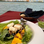 Daily salad with hotel zone in distance