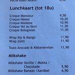 Lunch kaart