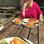 A great lunch out in the sun