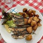 Sardines grillées et pommes de terre de Noirmoutier