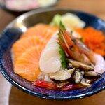 三色丼定食 ($98)