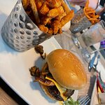 S&L Burger with Sweet Potato Fries