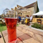 Al-fresco Cider at The Exeter Arms in Barrowden (24/Apr/21).