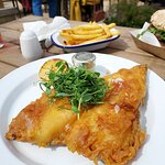 Fish & Chips - The Exeter Arms in Barrowden (24/Apr/21).