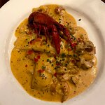 Crawfish and Goat Cheese crepes