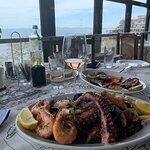 Seafood platter at Kiparis Restaurant, Nessebar