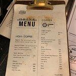 Courage Eighteen - drink menu