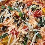 Pizza parmigiana, No la pude probar tampoco pero a simple vista tenía una pinta exquisita, todo