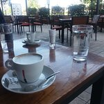 Good coffee (outside). A couple of people because of COVID-19. It's much better now.
