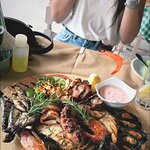 Seafood plate looks delicious!